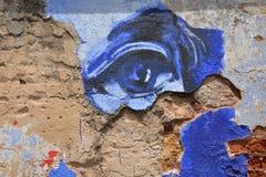 Street art - blue eye Royalty Free Stock Image
