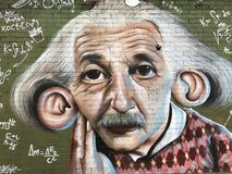 Street art in Brooklyn royalty free stock image