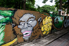Street art in Chiang Mai Royalty Free Stock Images