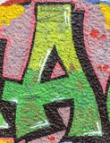 Street art. Colorful graffiti on the wall Royalty Free Stock Photography