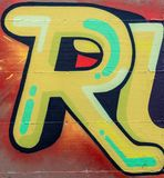 Street art. Colorful graffiti on the wall Royalty Free Stock Image