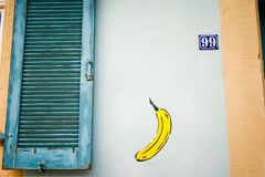 Street art. Colorful graffiti on the wall. Fragment for background. stock photos
