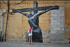 Street art in constanta city , romania Stock Photos