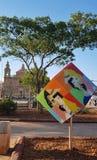 Street art cube msida malta royalty free stock images