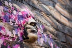 Street art - 3d head. Photography of a street art in London streets, UK vector illustration