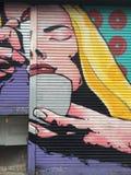Street art Dublin. Graffiti portrait Stock Photo