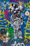 Street art at El Born district, on March 14, 2013 in Barcelona, Spain. BARCELONA - MARCH 14: Street art at El Born district, on March 14, 2013 in Barcelona Stock Image