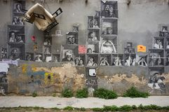 Street art at El Born district, on March 09, 2013 in Barcelona, Spain Royalty Free Stock Image