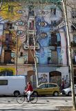 Street art in El Raval district, on March 10, 2013 in Barcelona, Spain Royalty Free Stock Image