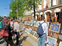 Street art exhibition Royalty Free Stock Images