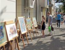 Street art exhibition Stock Photo