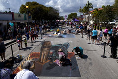 Street Art Festival in Lake Worth Florida Royalty Free Stock Photos
