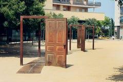 Street art in Figueres Stock Image