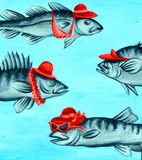 Street art fish Royalty Free Stock Images