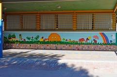 Street Art - Urban painting Artist Sun Rainbow Garden Royalty Free Stock Photo