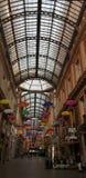 Strada ombrelli a genova royalty free stock photos