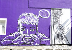 Street art at George Town in Penang, Malaysia Royalty Free Stock Images