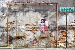 Street Art. Georgetown, Malaysia Royalty Free Stock Image