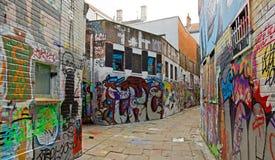 Street art in Ghent (Gand), graffiti (Belgium Flan Stock Image