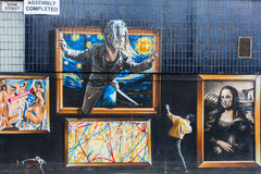 Street art in Glasgow, UK royalty free stock image