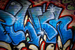 Street art graffiti. Spray painted on a wall Royalty Free Stock Photography
