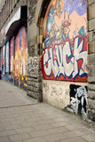 Street art graffiti. Bristol, England- February 15, 2015: Stokes Croft is a vibrant Community in the heart of Bristol.The area is a centre of art, music and Stock Photo