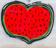 Street art graffiti of a heart-shaped sanctity royalty free illustration