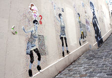 Street art Graffiti - Paris Royalty Free Stock Images
