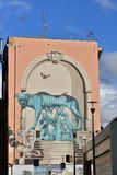 Street Art and Graffiti in Rome Pigneto district royalty free stock photo