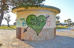 Street Art Graffiti. Some street art graffiti in Spanish language royalty free stock image