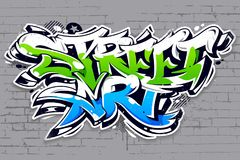 Street Art Graffiti Vector Lettering Stock Photos