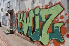 Graffiti in Vientiane stock images