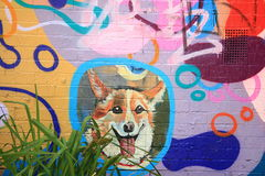 Street Art Happy Dog Royalty Free Stock Images