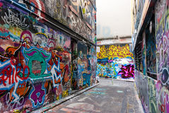 Street Art - Hosier Lane Melbourne - Australia Stock Photography