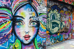 Street Art - Hosier Lane Melbourne - Australia Royalty Free Stock Images