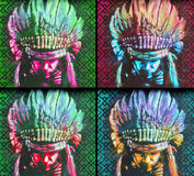 Street art indian chief Royalty Free Stock Photo