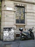 Street art italian stock image