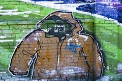 Street art a jacket. Beautiful colorful drawing of street art Royalty Free Stock Photo