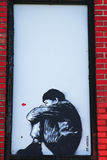 Street art by Jef Aerosol at East Williamsburg in Brooklyn. Stock Images