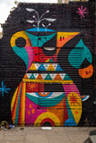 Street art - a kettle. Photography of a street art in London streets, UK royalty free illustration