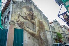 Street art in Kuala Lumpur, Malaysia Stock Photo