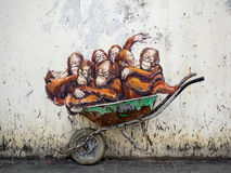 Street Art in Kuching, Sarawak, Malaysia Stock Photos