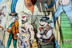 Street art in La Boca neighborhoods Royalty Free Stock Images