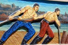 Street art in La Boca neighborhoods Stock Image