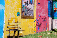 Street art in La Boca neighborhoods Royalty Free Stock Photos