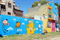 Street art in La Boca neighborhoods Stock Photo