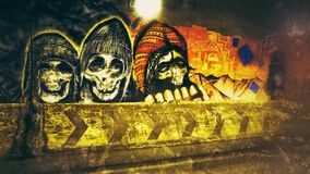 Street art La Paz Bolivia. Hard to paint graffiti Stock Image