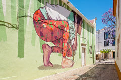Street art Lagos, Portugal Royalty Free Stock Image