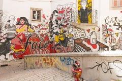 Street art in lisbona Stock Photos