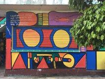 Street Art in Livingston Izabal Guatemala stock foto